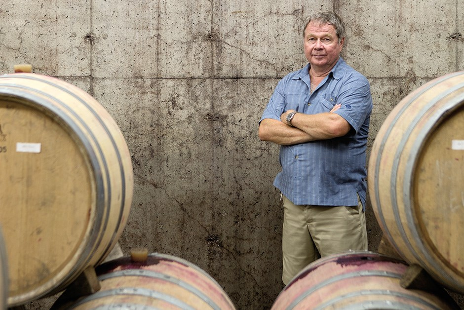 Martin Malivoire in his cellars