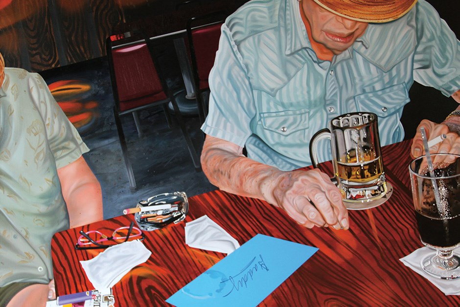 Nancy Lamb, Blue Note Bar and Grill, oil on canvas at artspace111