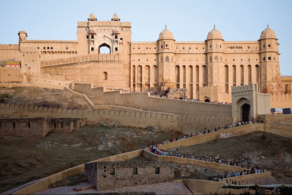 The majestic Amber Fort was built on its hilltop perch in 1592