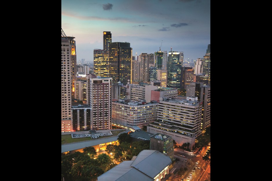 THE UPSCALE MAKATI DISTRICT HOLDS MOST OF METRO MANILA'S SKYSCRAPERS
