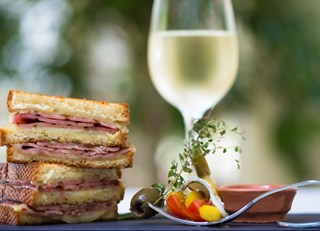 Fairmont Washington's Gourmet Grilled Ham & Cheese