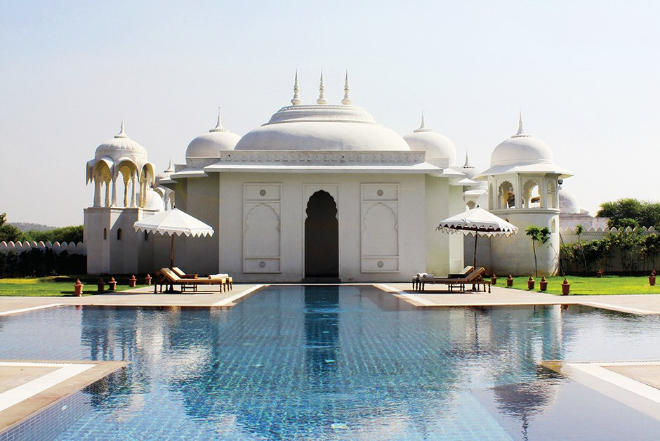 On a classic Mughal palace blueprint, this serene outbuilding of the main complex would have been the private enclosure of court women; at the Fairmont Jaipur, it's the Willow stream Spa