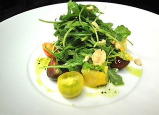 Heirloom Tomato Salad with Miso Jalapeno Dressing