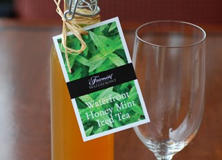The Fairmont Waterfront's Signature Honey Mint Iced Tea