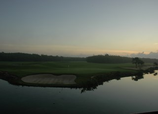 Morning view of the Mayakoba golf course