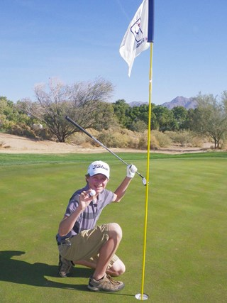 My 13 year old - A HOLE IN ONE!