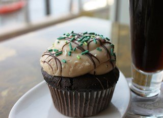 Guilty 'Irish' Chocolate Cupcake