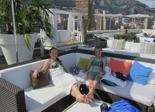 Lounging on the Cote D'Azur