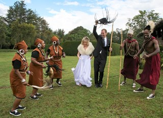 Kikuyu Dancers at Mt Kenya Wedding
