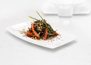 Arame with Sunflower Seeds, Chives and Mustard (macrobiotic)