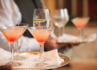The Sunset Splash --a signature cocktail from the Fairmont Olympic Hotel in Seattle