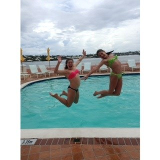 Jumping for joy at Fairmont Hamilton Princess