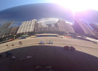 First Anniversary at the Big Bean (Chicago)