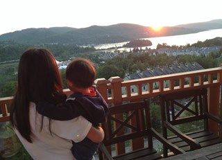 Breathtaking sunset at Mont Tremblant