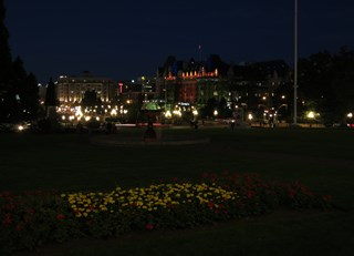 Fairmont Empress in Victoria, BC at Night