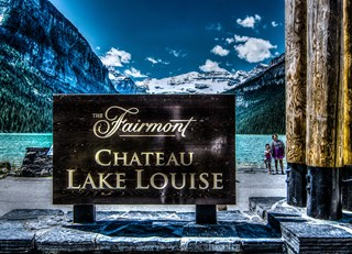 Gorgeous day at Fairmont Chateau Lake Louise