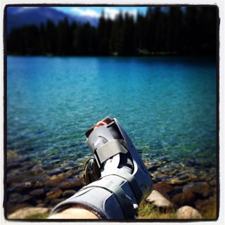 Broken ankle, restored by the beauty of Jasper.