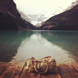Jireh Bag visits Lake Louise