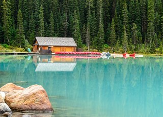Evening Reflections at Lake Louise