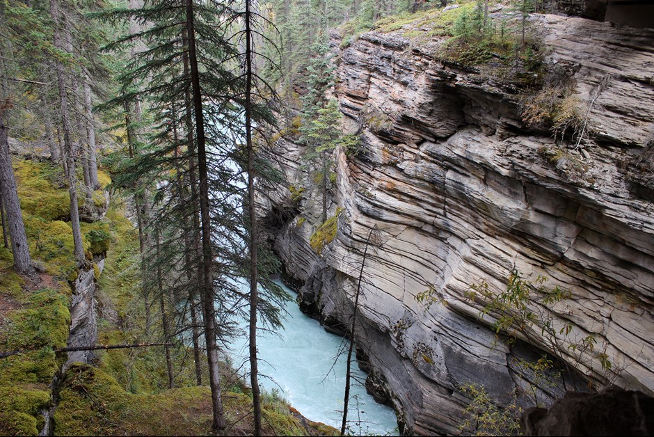 At Athabasca Falls