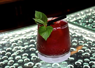 Pomegranate and Basil Mocktail