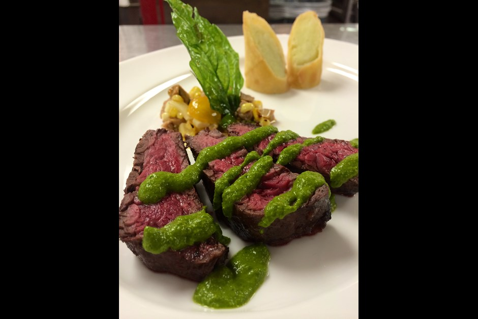 Chef Laurent Poulain's Honey Mint Chimichurri Steak Sauce
