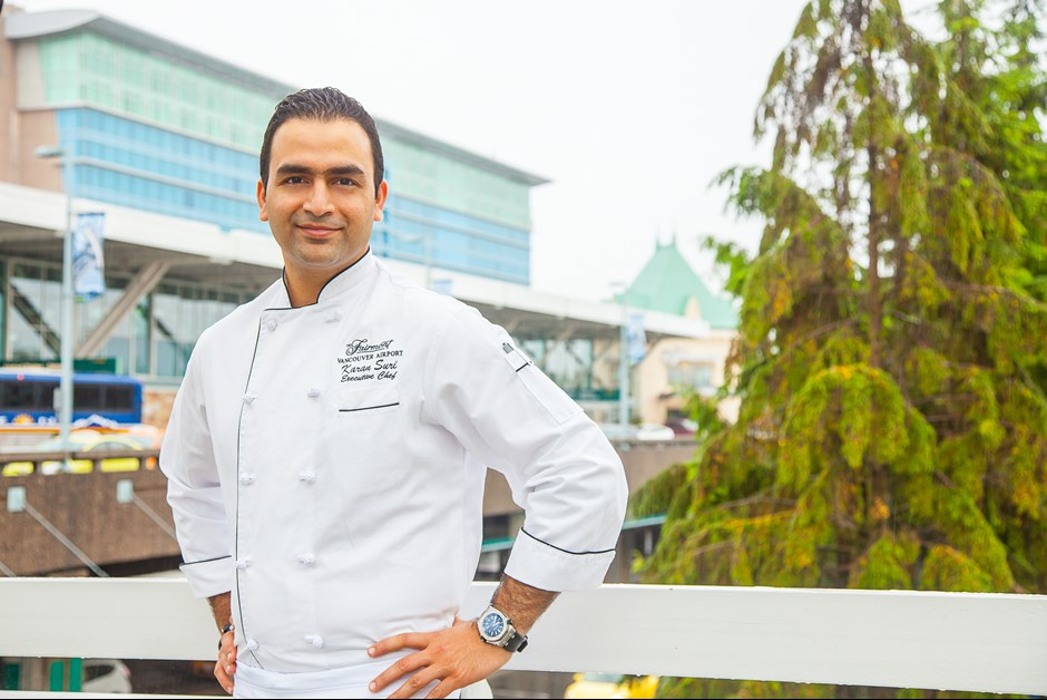 New Executive Chef Karan Suri is turning up the heat in the kitchen at North America's top airport hotel