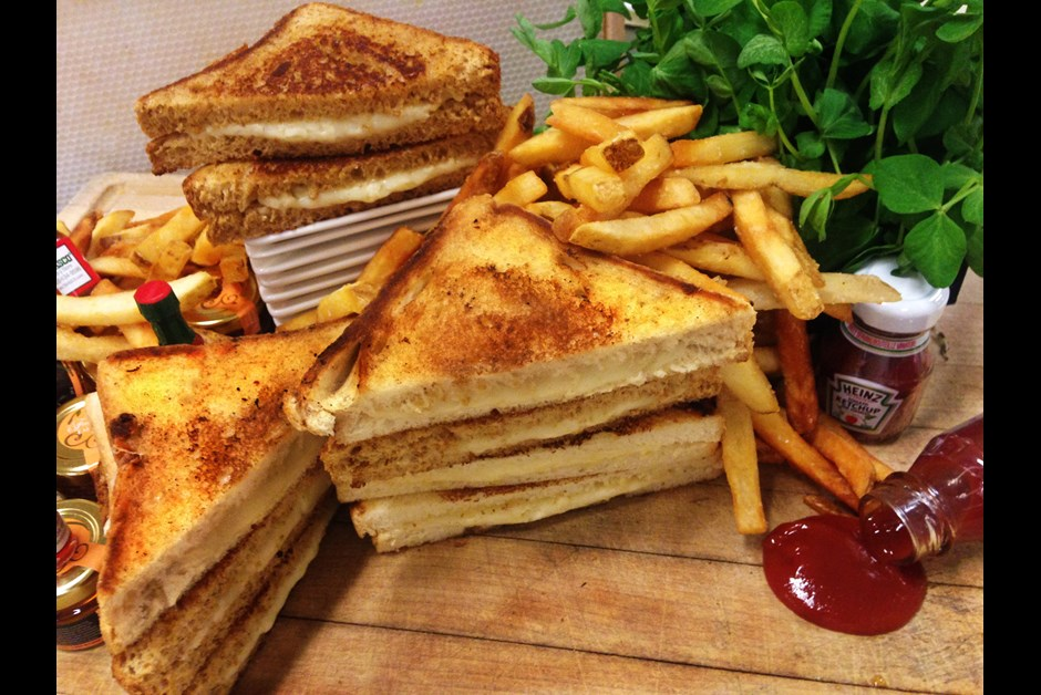 Great Canadian Grilled Three Cheese Sandwich