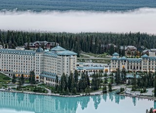 Fairmont Chateau Lake Louise,  before the sunrise