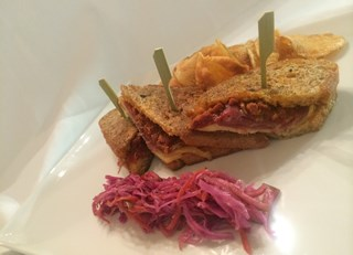 Charlevoix style grilled cheese sandwich