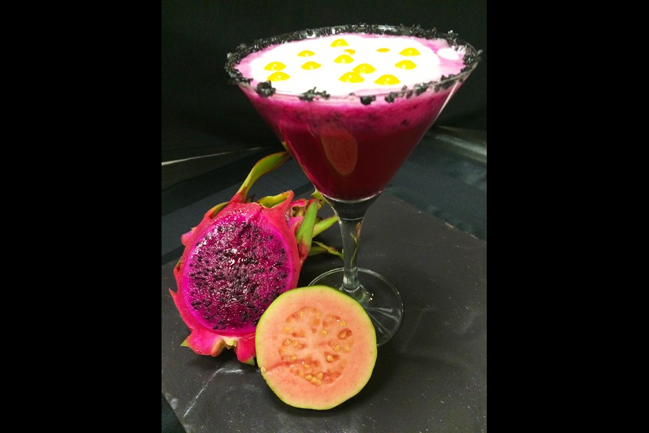 Haunted Halloween Cocktail: Dragonfruit Lilikoi Martini