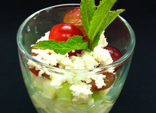 Apple Celery and Feta Cheese