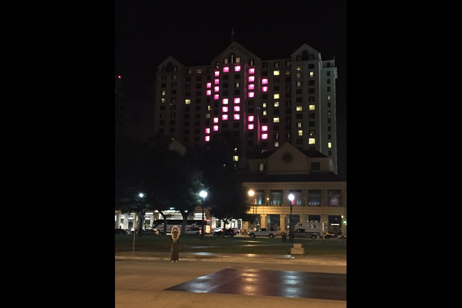 Fairmont San Jose Luminous in Pink for Making Strides Against Breast Cancer 5K Walk