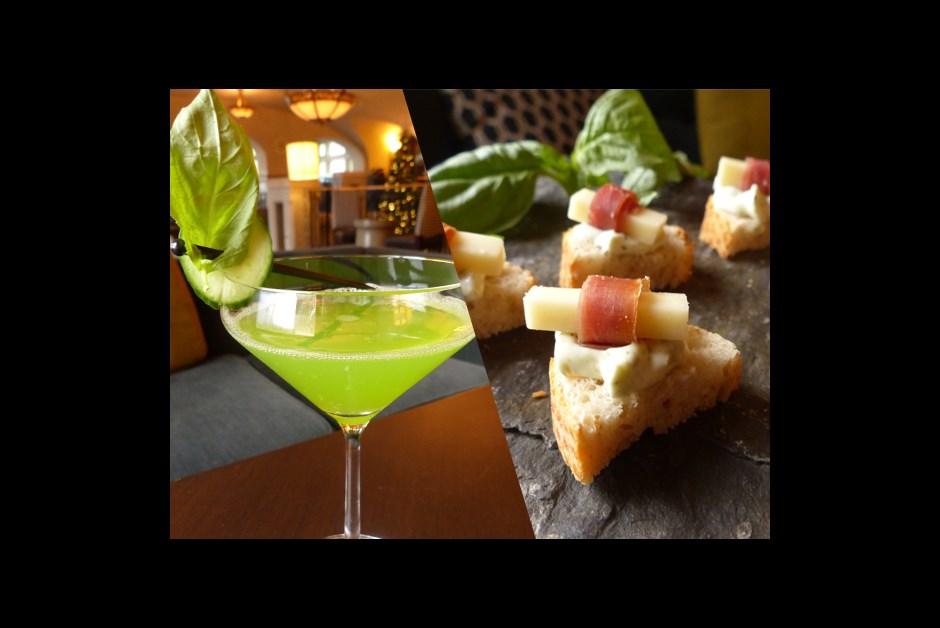 Prosciutto canap cucumber melon splash fairmont moments for Prosciutto and melon canape