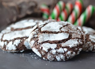 Fairmont Waterfront's Chocolate Peppermint Crinkle Cookies