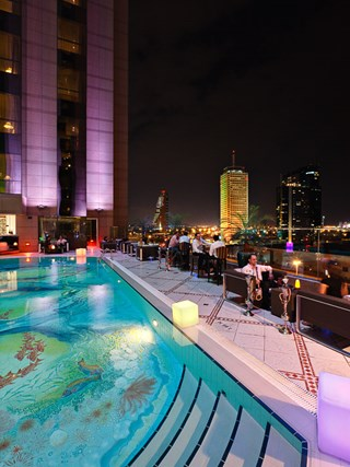 Dokuz, the outdoor lounge at Fairmont Dubai