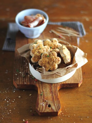 Anna Olson's Bacon Cheddar Shortbread -  A Favourite Recipe from Christmas in November!