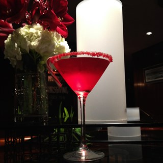 The Newport, a Gastropub's Candy Cane Martini