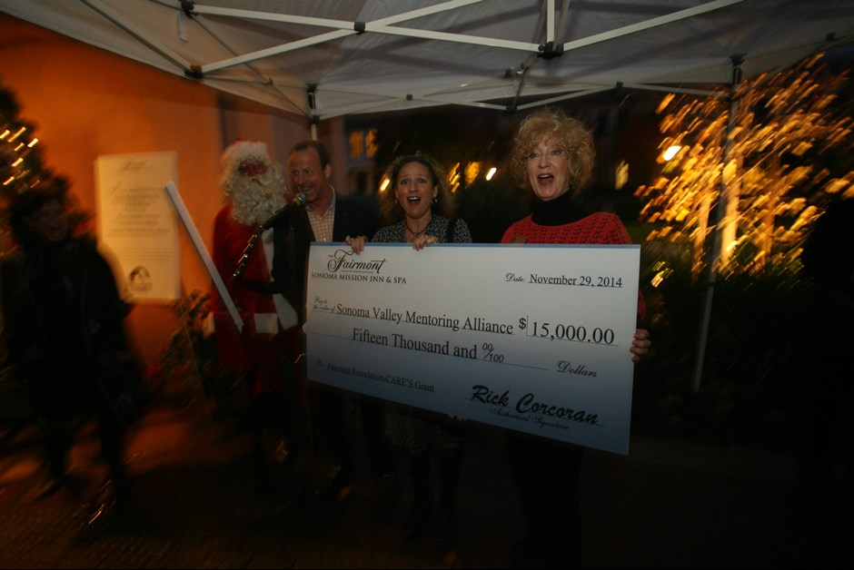 Fairmont Sonoma Mission Inn Presents First Installment of $15k Grant to Sonoma Valley Mentoring Alliance
