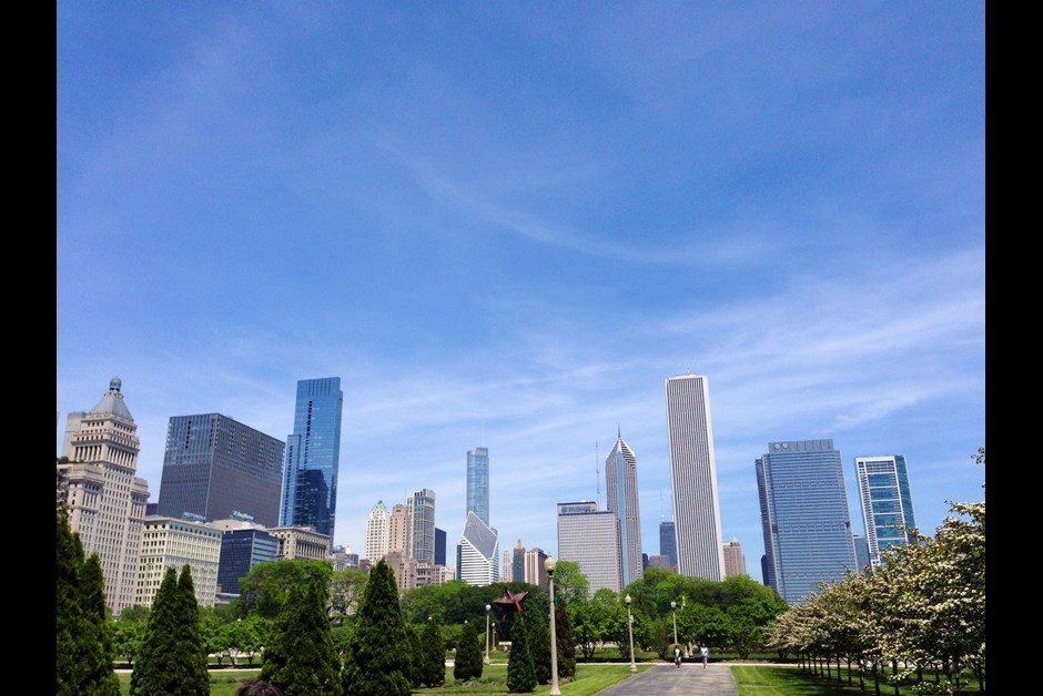 View from the Millennium Park near Fairmont
