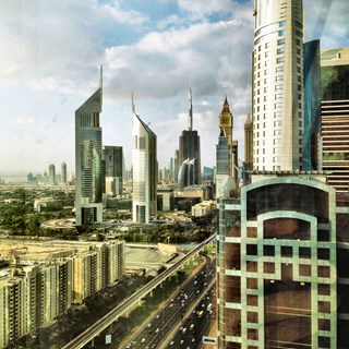 Futuristic view of Dubai