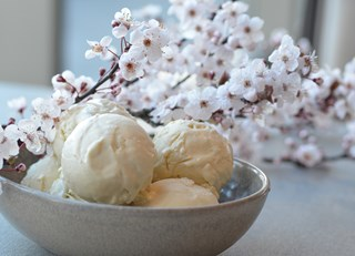 Hand-Churned Cherry Blossom Ice Cream