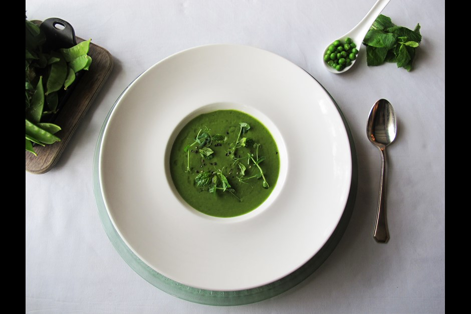 Green Pea & Spinach Soup