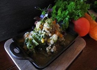Wintery Quinoa and Lentil Stew with Kale