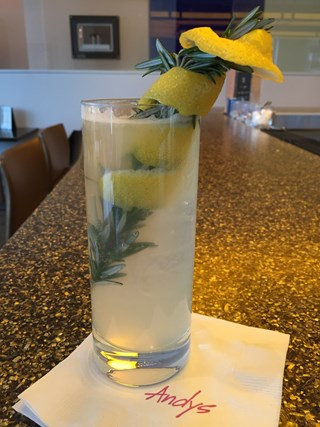 Charred Rosemary and Lemon Mule