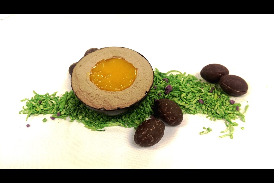 Chocolate and Mango Easter Egg