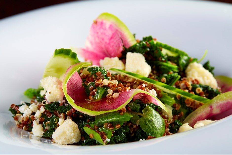Quinoa, Kale and Spring Vegetable Salad