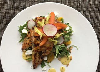 Chicken Paillard with Herb Dressing