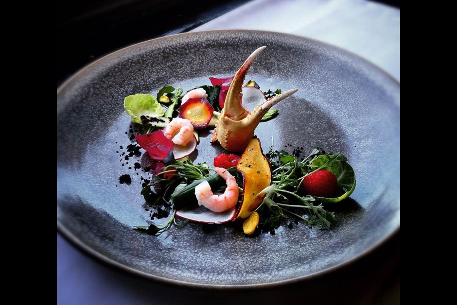 Quebec Seasonal Fresh Vegetables Salad, Wasabi and Apricot Dressing