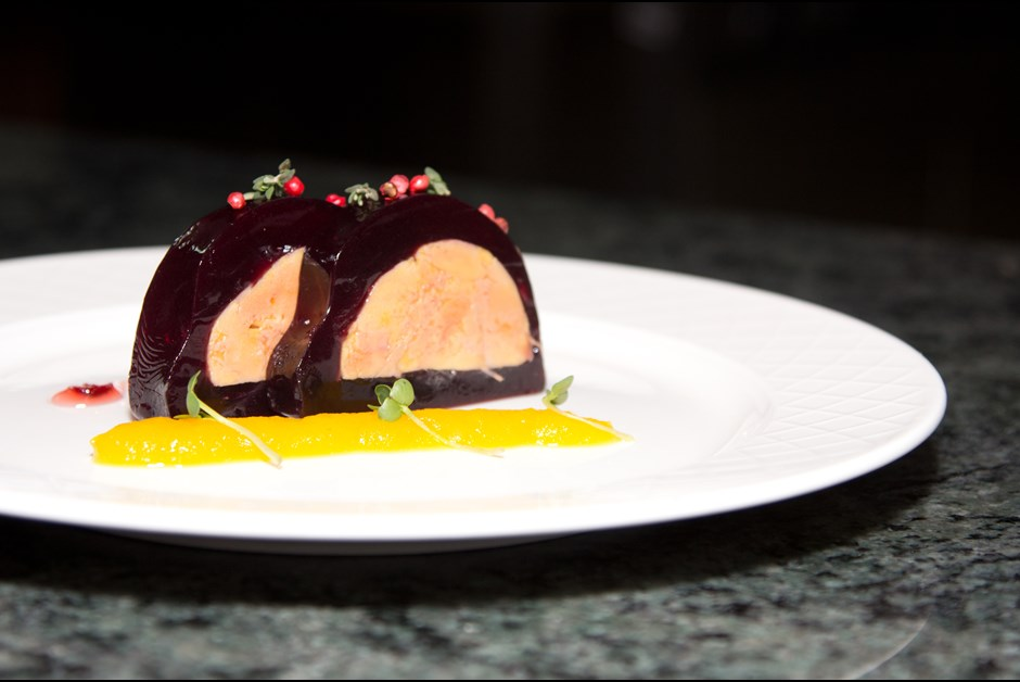... goose liver in port wine jelly with cranberry jam: Fairmont Moments